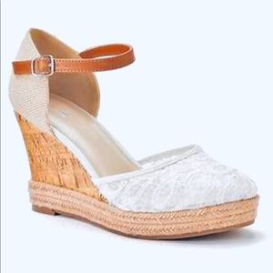 Apt.9 Lace Wedge Shoes